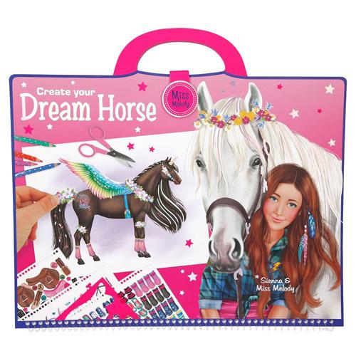 Omalovánky, kreativní sada Miss Melody Dream Horse, 652 samolepek
