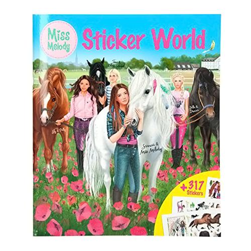 Kreativní sešit Miss Melody Dívky a koně na louce, 317 samolepek