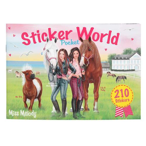 Kreativní sešit Miss Melody Dívky a koně na louce, 210 samolepek