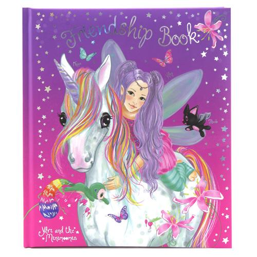 Kniha přátelství Ylvi and the Minimoomis ASST Ylvi a Naya, s přívěskem, fialovo-růžová