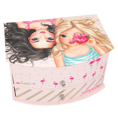 Šperkovnice Top Model Candy a Janet, světle růžová
