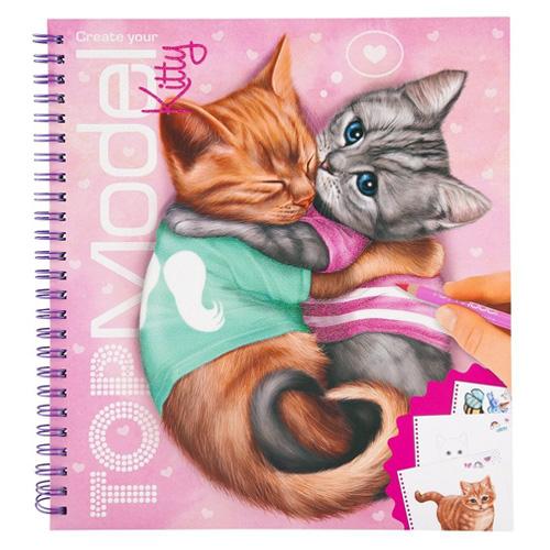Omalovánky, kreativní sada Top Model Kočičky, Lucy a Mr. Bob
