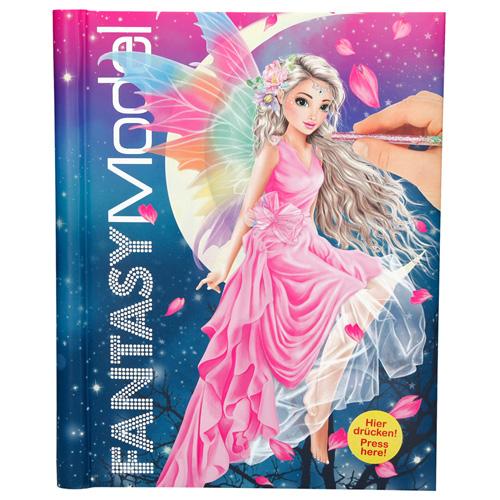 Omalovánky, kreativní sada Fantasy Model Víla s křídly, se samolepkami, kniha se zvukem a světly