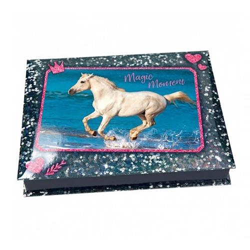 Pouzdro na kancelářské potřeby Horses Dreams Magic Moment, modré