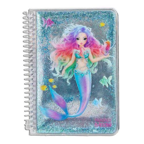 Zápisník Fantasy Model ASST Mořská panna, tyrkysové glitry