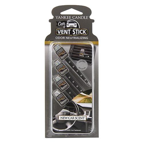 Vonné kolíčky Yankee Candle Vůně nového auta, 4x osvěžovač do auta