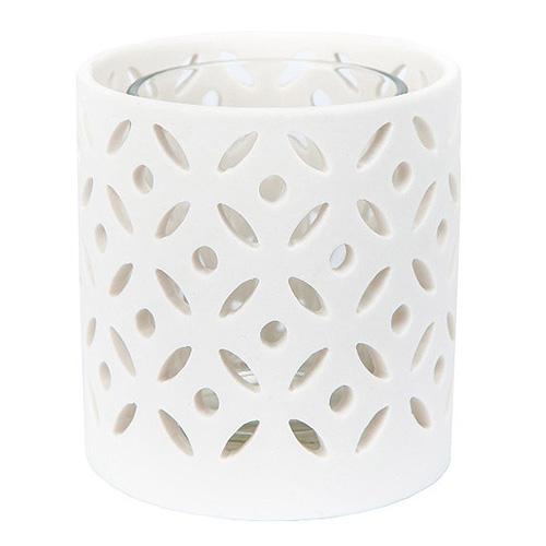 Svícen kovový Yankee Candle Ceramic Circle, výška 8 cm