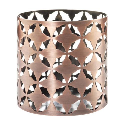 Svícen kovový Yankee Candle Moroccan Copper, výška 8 cm