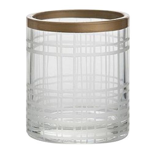 Svícen skleněný Yankee Candle Copper Elegance 1, průměr 7 cm