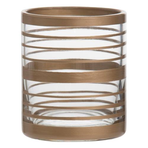 Svícen skleněný Yankee Candle Copper Elegance 2, průměr 7 cm