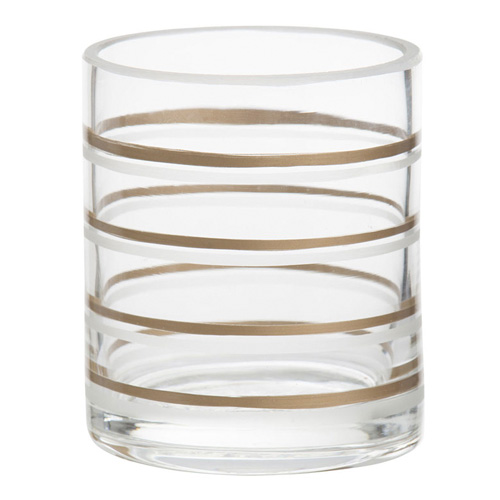Svícen skleněný Yankee Candle Copper Elegance 3, průměr 7 cm