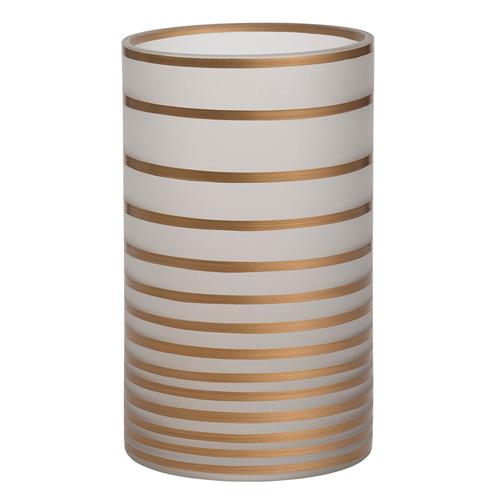 Svícen skleněný Yankee Candle Copper Elegance, výška 20 cm