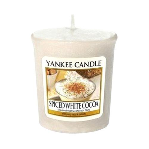 Svíčka Yankee Candle Bílé kakao s kořením, 49 g