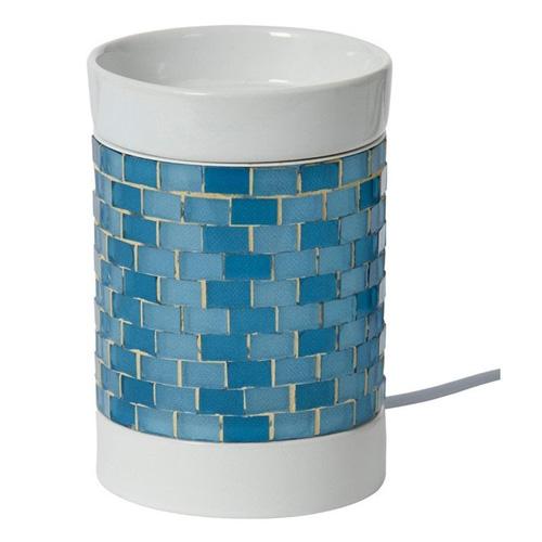 Aromalampa elektrická Yankee Candle Modrá, svítící, výška 15 cm
