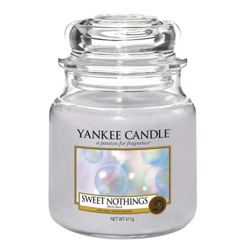 Svíčka ve skleněné dóze Yankee Candle Sladké nic, 410 g