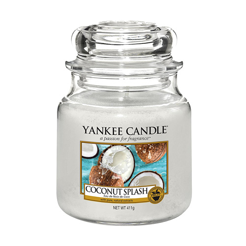 Svíčka ve skleněné dóze Yankee Candle Kokosové osvěžení, 410 g