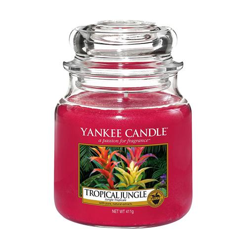 Svíčka ve skleněné dóze Yankee Candle Tropická džungle, 410 g