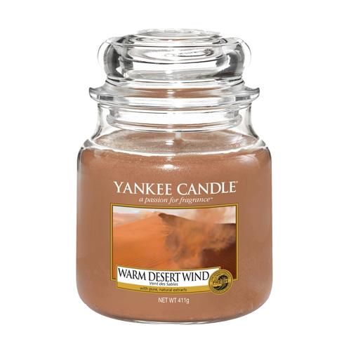 Svíčka ve skleněné dóze Yankee Candle Teplý pouštní vítr, 410 g