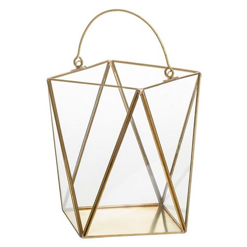 Lucerna skleněná Yankee Candle Simply Pastel, výška 18 cm