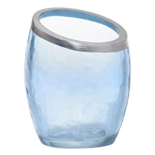 Svícen skleněný Yankee Candle Modrá perleť, průměr 8 cm