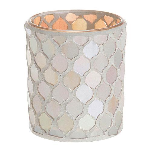 Svícen skleněný Yankee Candle Šampaňská perleť, průměr 7 cm