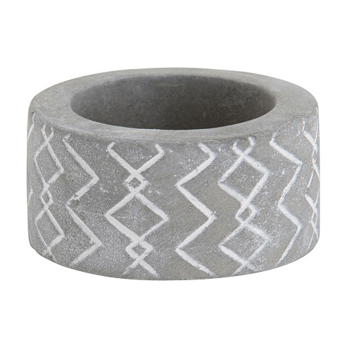 Svícen keramický Yankee Candle Tribal Stone 1, výška 3 cm