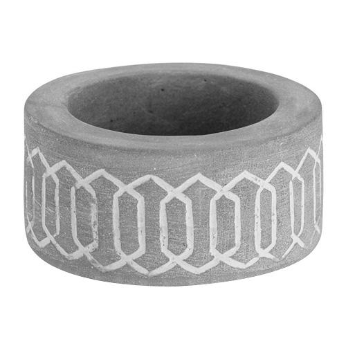 Svícen keramický Yankee Candle Tribal Stone 3, výška 3 cm