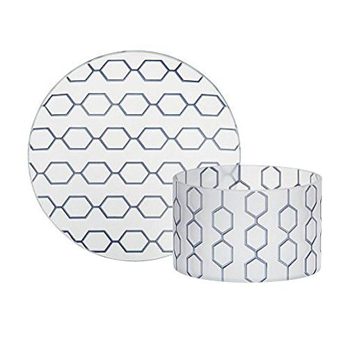 Dárková sada Yankee Candle Malý talířek + stínítko, modrý dekorativní vzor