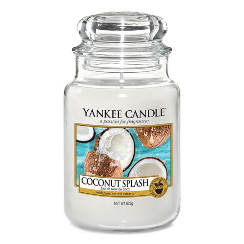 Svíčka ve skleněné dóze Yankee Candle Kokosové osvěžení, 623 g