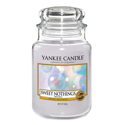 Svíčka ve skleněné dóze Yankee Candle Sladké nic, 623 g