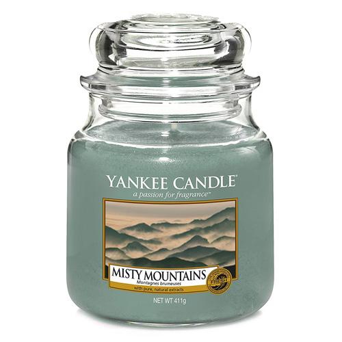 Svíčka ve skleněné dóze Yankee Candle Mlžné hory, 410 g