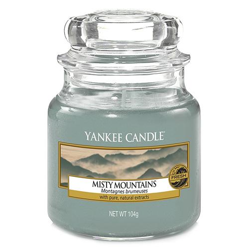 Svíčka ve skleněné dóze Yankee Candle Mlžné hory, 104 g