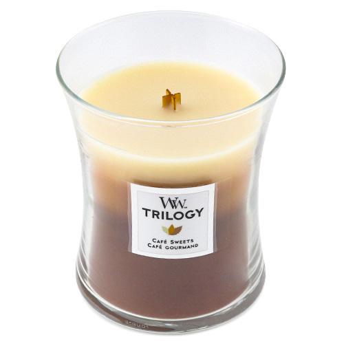 Svíčka Trilogy WoodWick Dezert v kavárně, 275 g