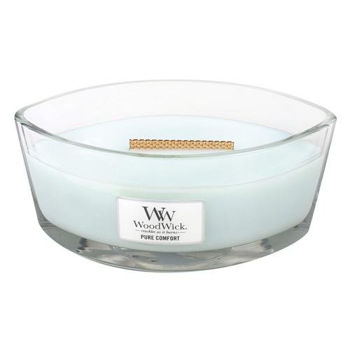 Svíčka dekorativní váza WoodWick Čistota a pohodlí, 453.6 g