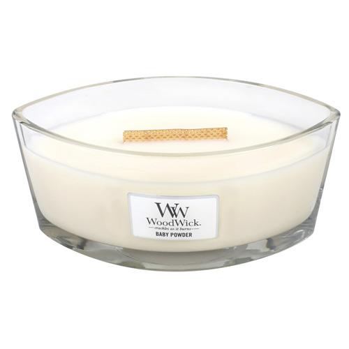 Svíčka dekorativní váza WoodWick Dětský pudr, 453.6 g