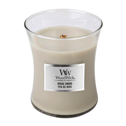 Svíčka oválná váza WoodWick Kouř z cedrového dřeva, 275 g