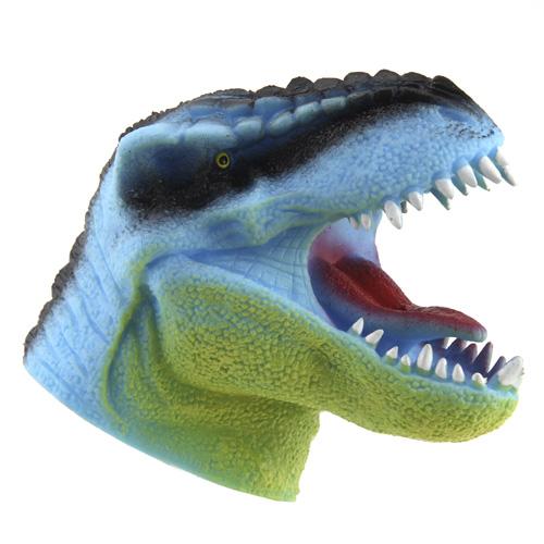 Tyrannosaurus Rex na ruku Dino World ASST Světle modrý, silikonový