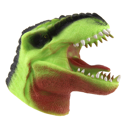 Tyrannosaurus Rex na ruku Dino World ASST Světle zelený, silikonový