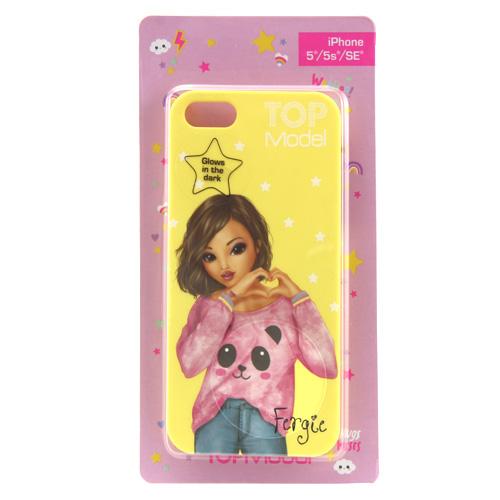 Ochranný kryt Top Model ASST Fergie, pro iPhone 5/5s/SE, žlutý