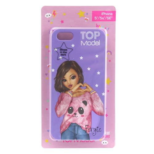 Ochranný kryt Top Model ASST Fergie, pro iPhone 5/5s/SE, fialový