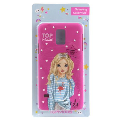 Ochranný kryt Top Model ASST Candy, pro Samsung Galaxy S5, tmavě růžový