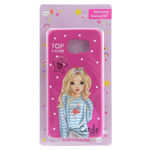 Ochranný kryt Top Model ASST Candy, pro Samsung Galaxy S6, tmavě růžový