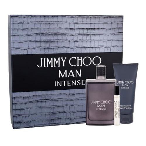 Dárková sada Jimmy Choo Man Intense, EDT 100 ml + EDT 7,5 ml + balzám po holení 100