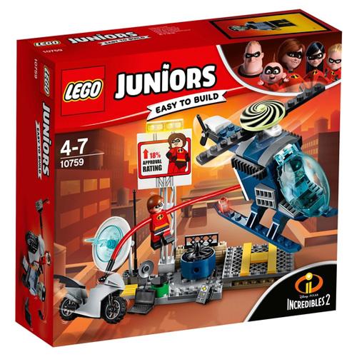 Stavebnice LEGO Juniors Incredibles 2 Elastižena: pronásledování na střeše, 95 dílků