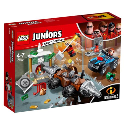 Stavebnice LEGO Juniors Incredibles 2 Bankovní loupež Podkopávače, 149 dílků