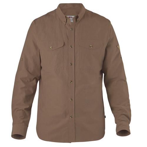 Fjällräven Övik Lite Shirt M Dark Sand | 227 | L