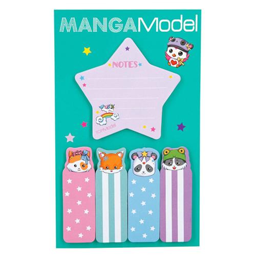Samolepicí bločky Manga Model ASST Hvězdička, 5 ks