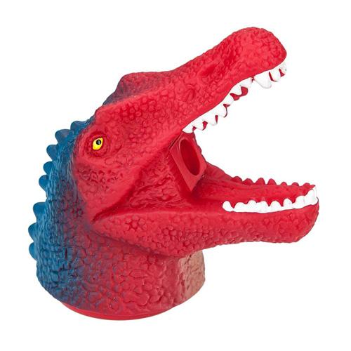 Ořezávátko Dino World ASST Hlava dinosaura s dlouhou tlamou, červeno-modrá