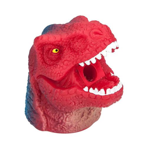 Ořezávátko Dino World ASST Hlava donosaura s krátkou tlamou, červeno-modrá