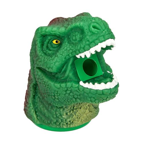 Ořezávátko Dino World ASST Hlava dinosaura s krátkou tlamou, zeleno-červená